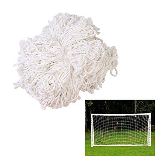 Smart Fun Fußballtornetz Ersatznetz für Sports Fußball Fußballtor Tor Tornetz Netz 2,4mx1,8m, 3 Größe (1,8mx1.2m, 3.6mx1,8m, 7,3mx2,4m) Weiß