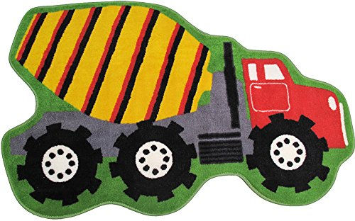 Fun Rug Fun Time Shape-NEW Cement Mixer Area Rug - Fun Time Shapes