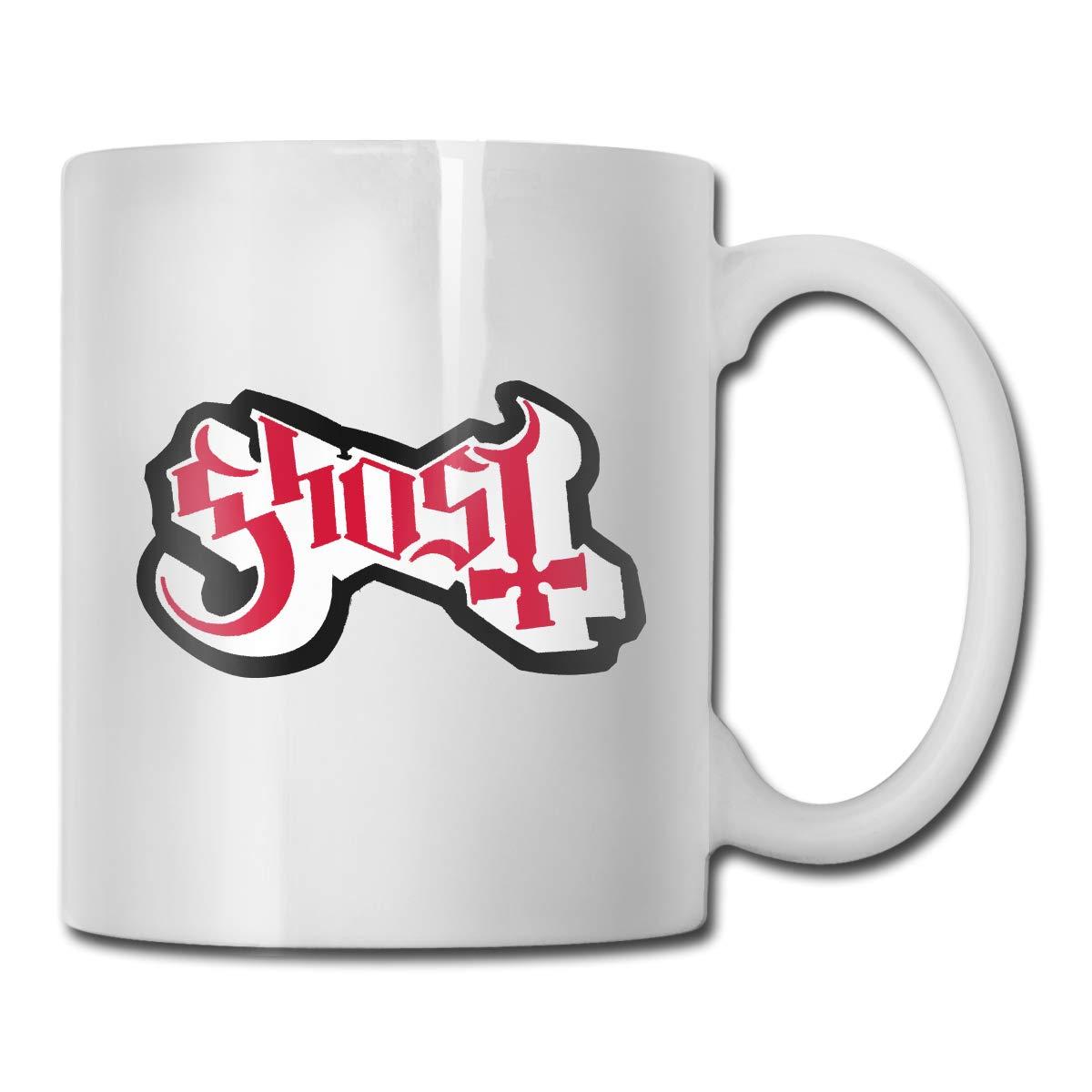 Office Coffee Cup GhostLogoHeavyMetal Geblackus 14.72 OZ Capacity Mug is Perfect for CoffeeWhite