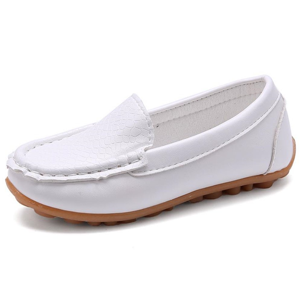 RVROVIC Kids Girl Boy Slip-on Loafers Oxford PU Leather Flats Shoes(Toddler/Little Kid)