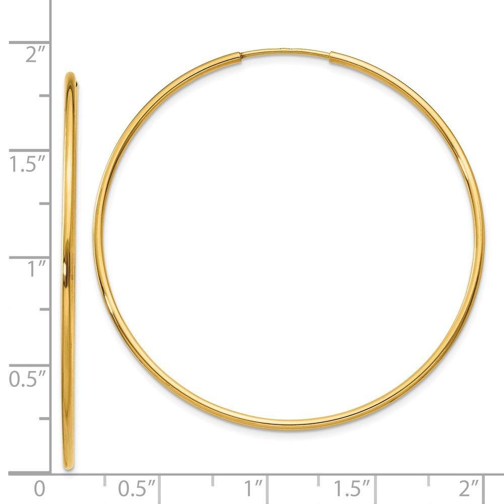 Mia Diamonds 14k Yellow Gold 1.25mm Endless Hoop Earring