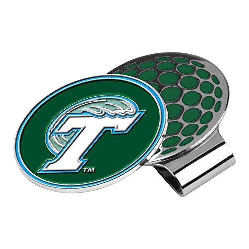 LinksWalker NCAA Tulane Green Wave Golf Hat Clip with Ball Marker