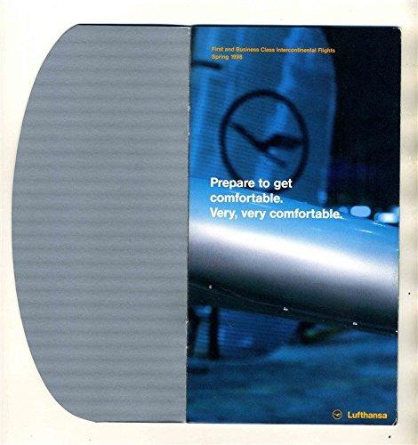 Lufthansa 1st & Business Class International Flight Booklet Spring 1998