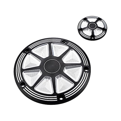 Covers Derby Billet Chrome (Motorcycle Black Chrome Timing Accessories Engine Derby Timer Cover For Harley Road King Electra Street Glide Trike)