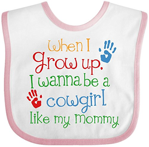 Inktastic - Cowgirl Like Mommy Baby Bib White/Pink 2486e -
