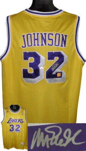 Amazon.com: Signed Magic Johnson Jersey - Yellow Adidas ...