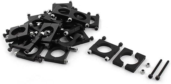20/pcs 20/mm en aluminium /à pince de serrage pour Fibre de carbone Tube DIY RC Multirotor