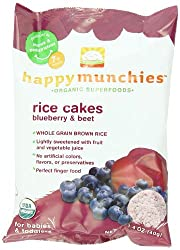 HappyBaby - Happy Munchies Organic SuperFoods Rice Cakes Blueberry & Beet - 1.4 oz.
