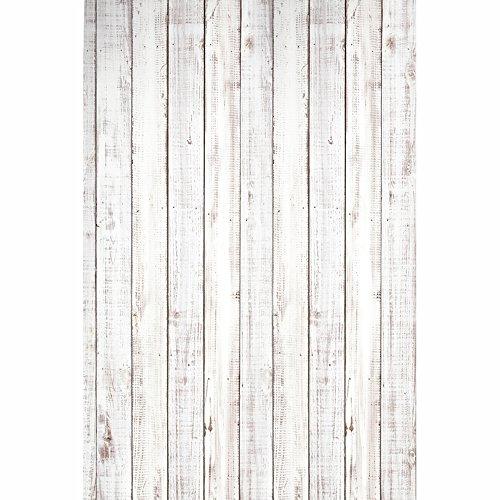 KonPon 1x1.5m Brown Wood Floor Backdrop No Wrinkle Cotton Photography Backdrop Washable Photo Props Studio Background Wood KP-077