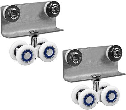 DXJL Ruedas para Muebles Ruedas,(1 Par) Doble Hole - Aleación de Aluminio Esqueleto Ducha Pequeño Rondando