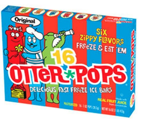 Otter Pops Freezer Ice Bars, Fat Free Ice Pops, Assorted Flavors (12 boxes, 16 - 1 oz pops)