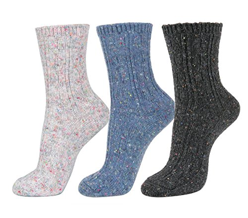 Winter Color Cable Ankle Socks
