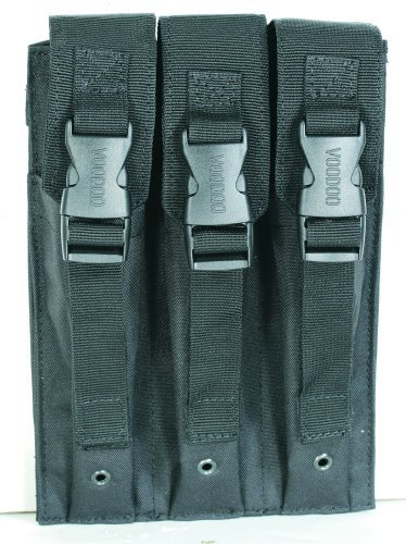 (VooDoo Tactical 20-9340001000 Mp5 Mag Pouch, Black, Triple)
