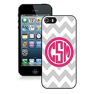 BINGO discount retail Personalized Gray Chevron Pink Monogram iPhone 5 5S Case Black Cover
