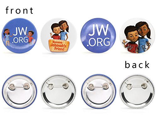 JW ORG Buttons Jehovah's Witnesses Button Perfect Present for Jw org Sophia  Caleb Buttons Kids-40 Pack