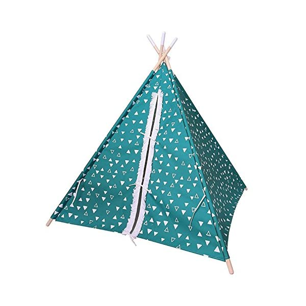 Pillowfort-Green-Explorer-Solid-Pine-Frame-Teepee-Portable-Playhouse-Tent