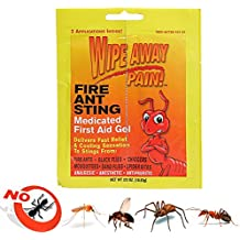 Fire Ant Medicated Gel Wipe Away Pain Camping Ointment Bug Insect Bite First Aid