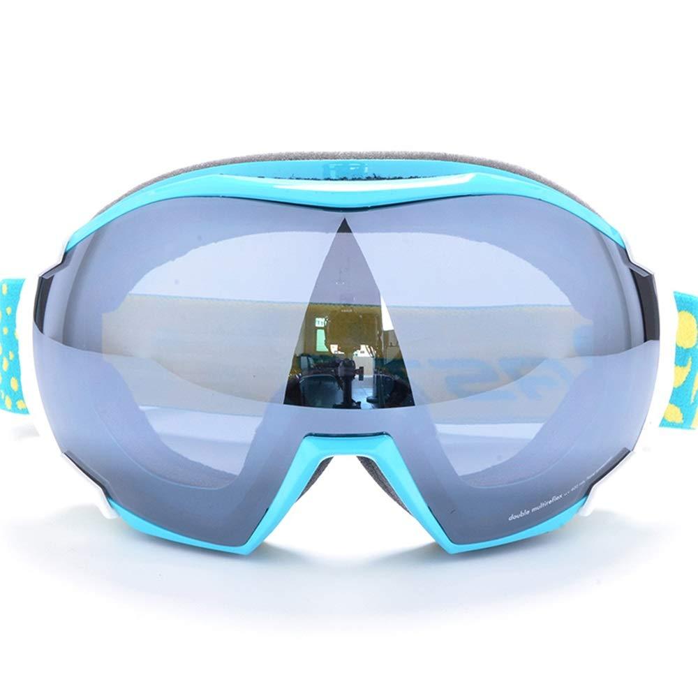 スキー用のゴーグル スキーゴーグル - PC、二重アンチフォグ、UVフィルター、近視眼鏡、大人の一般的なプロスキーと登山コートメガネ (色 : Lake 青 c9) Lake 青 c9