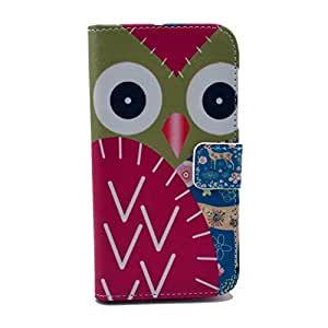 LUOLNH (TM) - Samsung Galaxy S4 Protective Case, Magnetic Flip Stand Card Holder Wallet PU Leather Case Pouch Cover ( owl deer )(Not for S4 Mini) by ruishername
