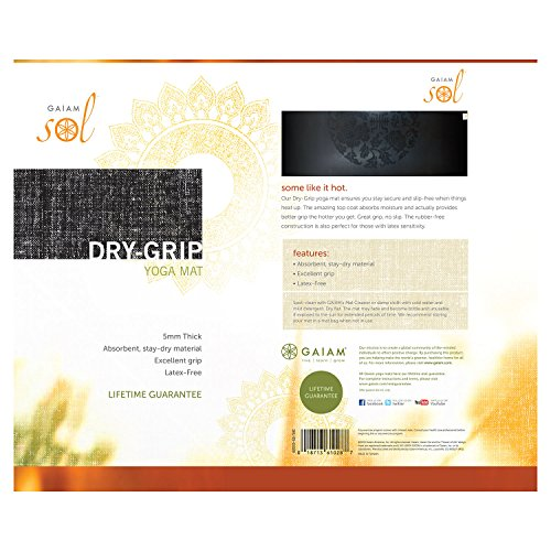Gaiam Dry-Grip Mat, 5mm