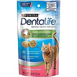 Purina Dentalife Savory Salmon Flavor Cat Treats - (10) 1.8 Oz. Pouches