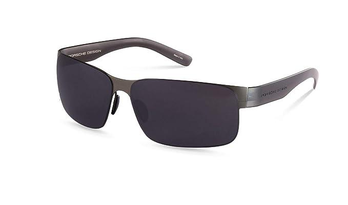 Amazon.com: Auténtico Porsche Design P 8573 D Gunmetal Gafas ...