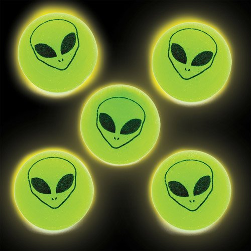 Alien Glow in The Dark Jet Balls for Kids Fun-Packed Halloween Toys at Pocket Money Prices - Perfect Party Bag Fillers for Children (Pack of 6) -