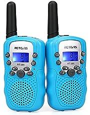 Retevis RT388 Walkie Talkie Kinderen PMR446 Vergunningsvrije 8 Kanalen Zaklamp VOX 10 Oproeptonen Walkie Talkies Speelgoed Cadeau voor Kinderen Walky Talky voor Kinderen (1 Paar, Blauw)
