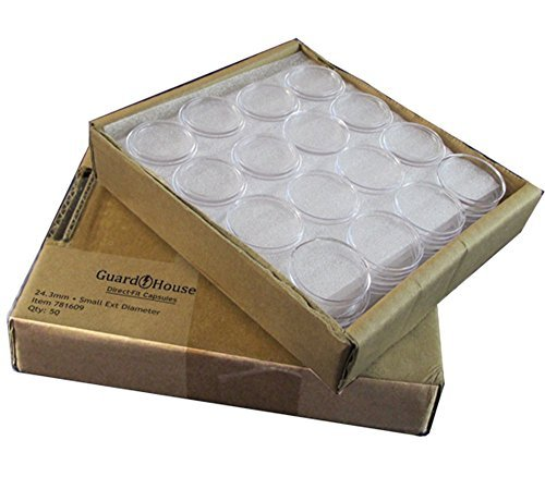 Direct-Fit Coin Capsules Quarter size For 24.3mm Box of 50