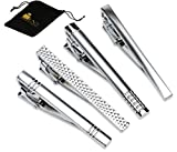 Set of 4 Tie Clips (Silver)