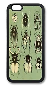 Apple Iphone 6 Case,WENJORS Adorable Moss Beetle Collection Soft Case Protective Shell Cell Phone Cover For Apple Iphone 6 (4.7 Inch) - Hard Black