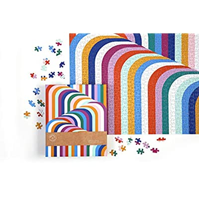Galison Now House by Jonathan Adler Vertigo 1000 Piece Jigsaw Puzzle, Contemporary Abstract Art Puzzle with a Multitude of Colors in Unique Patterns: Toys & Games