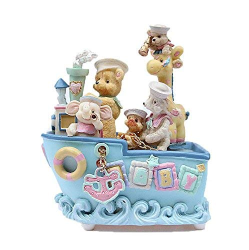 XUDSJ Cartoon Bear Pirate Ship Music Box for Child Birthday Gift Interesting Toy