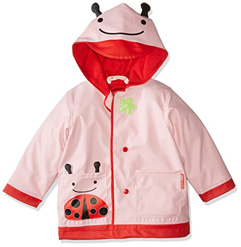 (Skip Hop Zoo Little Kid and Toddler Hooded Rain Jacket, Small, Multi Livie Ladybug)