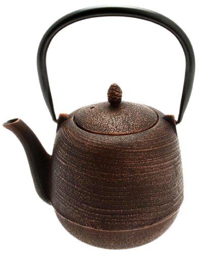 Kotobuki Japanese Iron Tetsubin Teapot, Copper/Black Jujube by Kotobuki