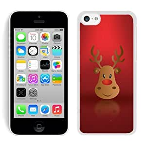 Fashion Style Iphone 5C TPU Case Christmas Deer White iPhone 5C Case 8