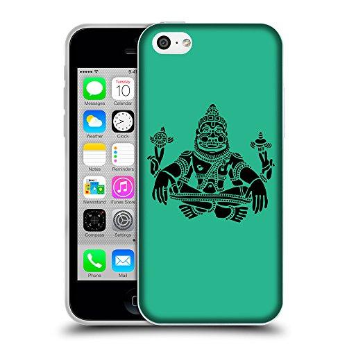 GoGoMobile Coque de Protection TPU Silicone Case pour // Q08120626 Hindou 3 Caraïbes Vert // Apple iPhone 5C