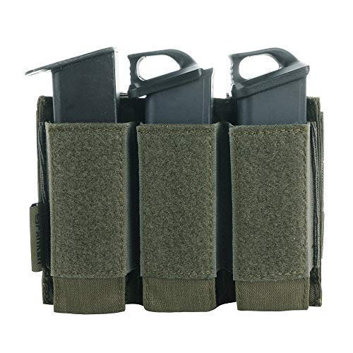 EXCELLENT ELITE SPANKER Tactical Open Top Double/Triple Pistol Mag Pouch for Glock M1911 92F Magazines 40mm Grenade(RGN) ()