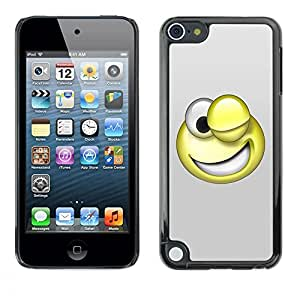 LECELL -- Funda protectora / Cubierta / Piel For Apple iPod Touch 5 -- 3D Funny Smiley --