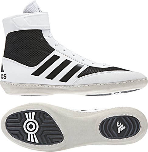 adidas Combat Speed 5 Men's Wrestling Shoes, White/Black, Size 6