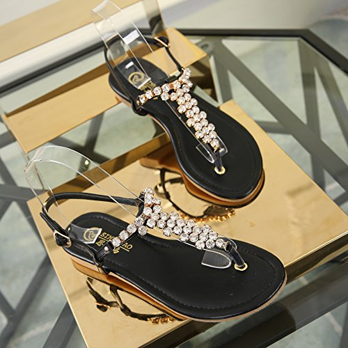 Escarpins 1 Noir Femme Peep toe Sunavy PqwYS