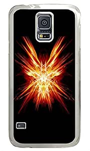 Samsung Galaxy S5 Red Abstract N001 PC Custom Samsung Galaxy S5 Case Cover Transparent