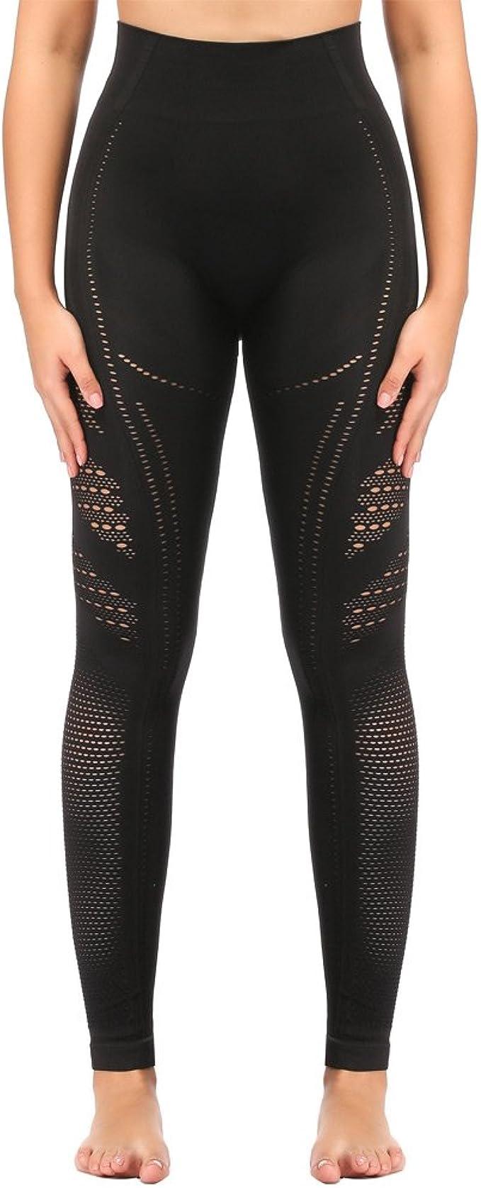 Amazon.com: SEKERMAET Leggings de yoga de cintura alta ...