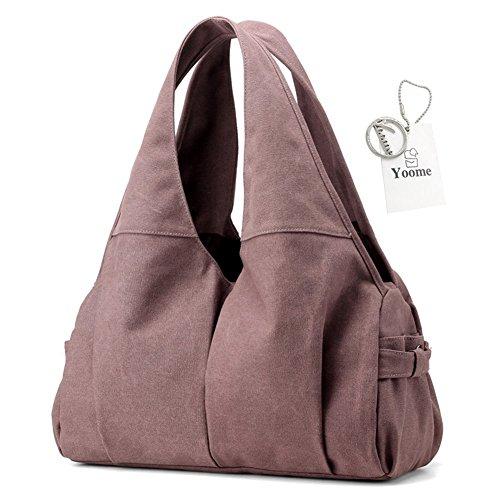 Yoome violet à Femme One l'épaule Sac Size Porter pour Gris Beige Yoohobo0008 Grey à gOqrx6g