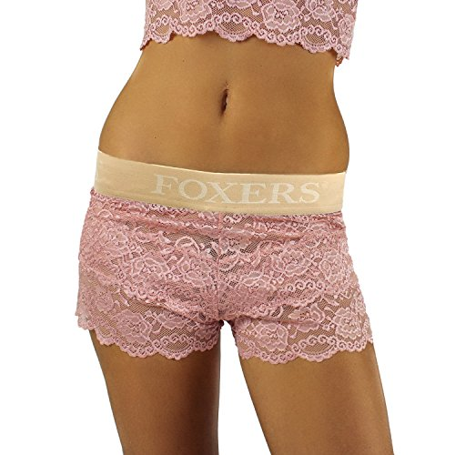 Foxers French Rose Lace Boxers Smooth Sand Band