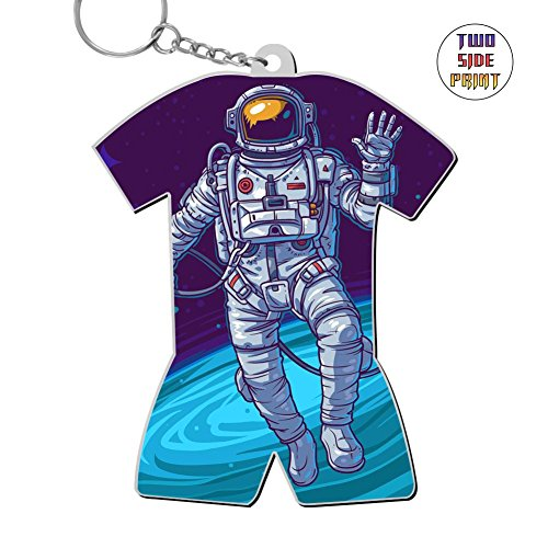 Neopolitan One Light - Zinc Alloy Metal Home Key Ring,Print Astronaut,Best Gift For Friends Boys Girls