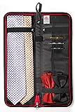 Travel Essentials Travel Tie Case, Black (18'' X 6'') Cuff Link/Tie Clips Storage. Holds even the longest Ties.