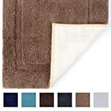 Tomoro Microfibers Non-Slip Bathroom Rug – Quick Dry, Super Absorbent and Soft Luxury Hotel Door Carpet Shower Shaggy Bath Mat Waterproof TPR Non-Skid Backing 20 x 32 Beige