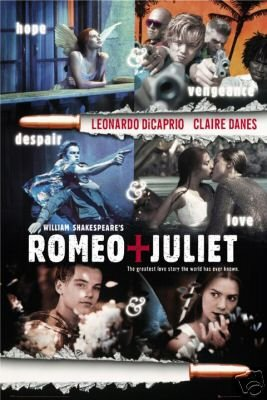 HSE Romeo and Juliet Movie Poster - Leonardo Dicaprio 24x36