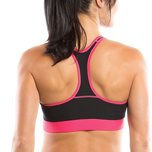 Moving Comfort Womens Switch It Up Racer Bra Black/Pink XS